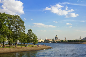 Views of the waters of the River Neva