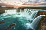 Fototapete Icelandic - Cascade - Wasserfall / Schnellen / Geysir