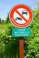 panneau,zone naturelle protégée