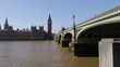 Westminster Bridge and UK Parliament. - Camera move.
