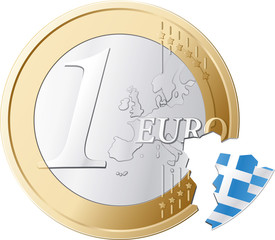 Euro without Greece illustration