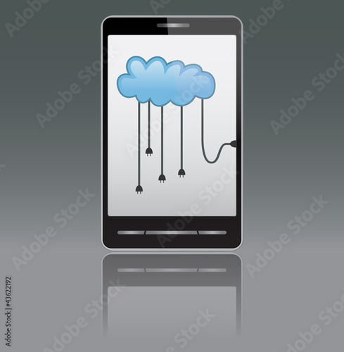 Smartphone with cloud