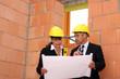 Architekten auf der Baustelle