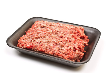 minced beef in a package