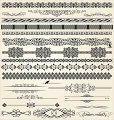 Calligraphic and decor design elements