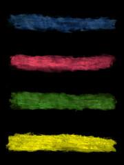 Banner, fondo negro, colores, ilustración, acuarela