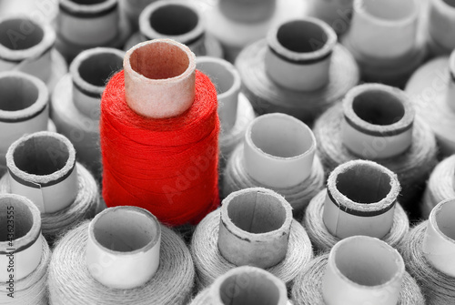 Fotobehang Rood, zwart, wit Roter Blickfang, vielseitig einsetzbares Konzept