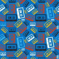 Old audio cassette pattern
