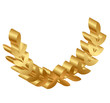 Vector 3d icon of gold laurels