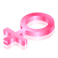 Vector female 3d icon