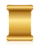 Vector illustration of gold scroll