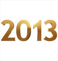 2013 3d gold - vector illustration