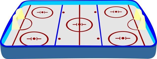 Площадка для игры в хоккей