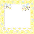 baby frame with bees and flowers