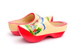 Dutch Wooden Shoes on White Background