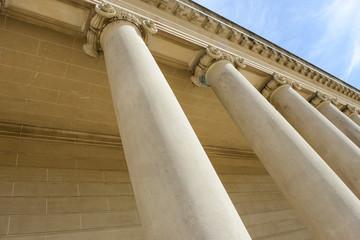Pillars of Strength Blue Sky Background