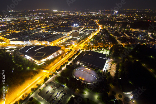 canvas print picture Munich by night