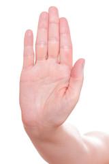Handzeichen Stop