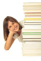 Bücherstaple mit Mädel 23.10.12