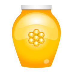 Vector illustration of honey