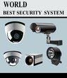 Video Camera Security System isolated