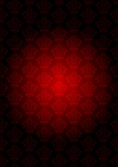 Vector vintage red wallpaper