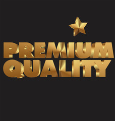 Premium quality 3d golden text