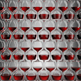 Wall of wineglasses