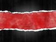 Papel rasgado, fondo, rojo, marco