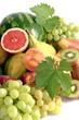 Uva,anguria,banane,kiwi,pere,pesche e pompelmo rosa