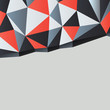 Triangles background with copyspace. Vector illustration, EPS10