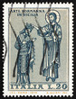 Postage stamp Italy 1974 Christ Crowning King Roger