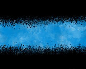 Fondo abstracto, ilustración, salpicadura, azul