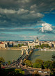 Nice view on the famous Chain Bridge in Budapest, Hungary