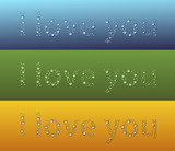 I love you drop text droplet color