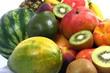 Frutta esotica con pesche,anguria e pere