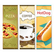 Vector Food and Coffee Template Banner