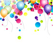 Colorful Vector Background with Balloons