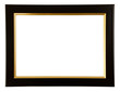 Gold and black color frame