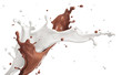 splash of milk and chocolate
