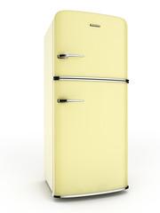 retro yellow refrigerator