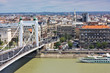 Elizabeth bridge city view Budapest Hungary