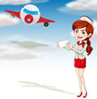 air plane and girl