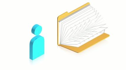 Folder animation with ManIcon