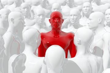 Grupo de personas y líder