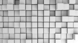Abstract image of white cubes with different heights from above - 43643913