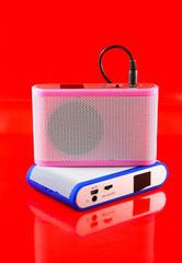 Modern speaker and Audio speaker.