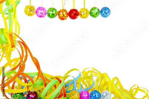 Colorful party decoration isolated over white