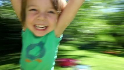 Happy boy spinnin