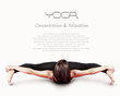 Girl in youga asana